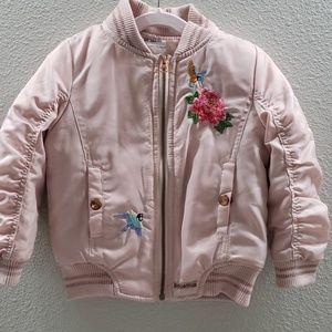 Pink Bomber Girls Jacket